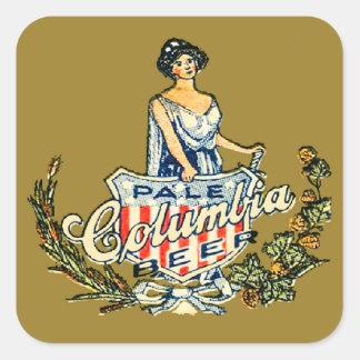 Sticker Carré Bière pâle de Colombie