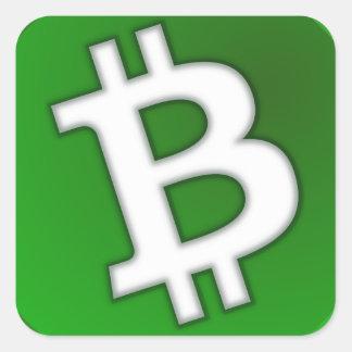 Sticker Carré Bitcoin