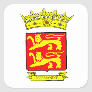STICKER CARRÉ BLASON NORMANDIE