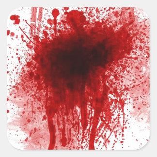 Sticker Carré blessure sanglante de fusil de chasse