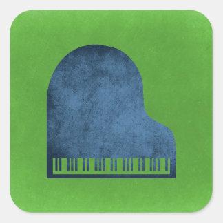 Sticker Carré Bleus de piano à queue