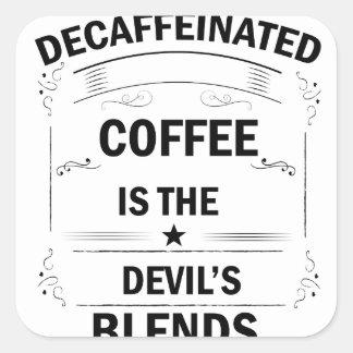 Sticker Carré boisson drôle de café