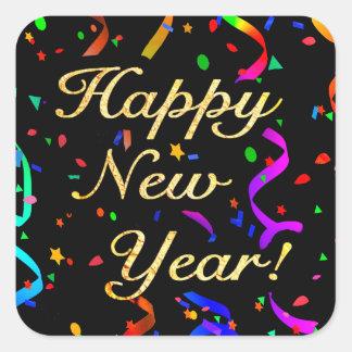 """Sticker Carré """"Bonne année ! """"autocollants"""