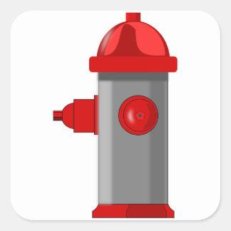 Sticker Carré Bouche d'incendie