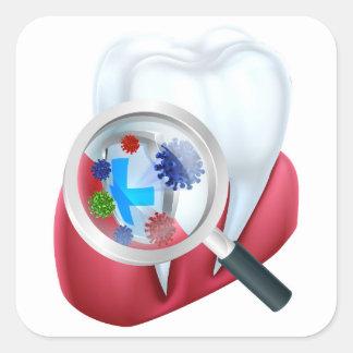 Sticker Carré Bouclier de dent de protection