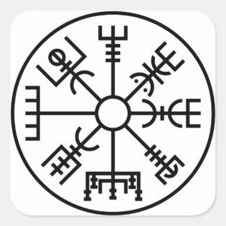 Sticker Carré bouclier Odin des norses de symbole de Viking de