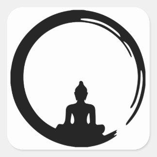 Sticker Carré Bouddha silent