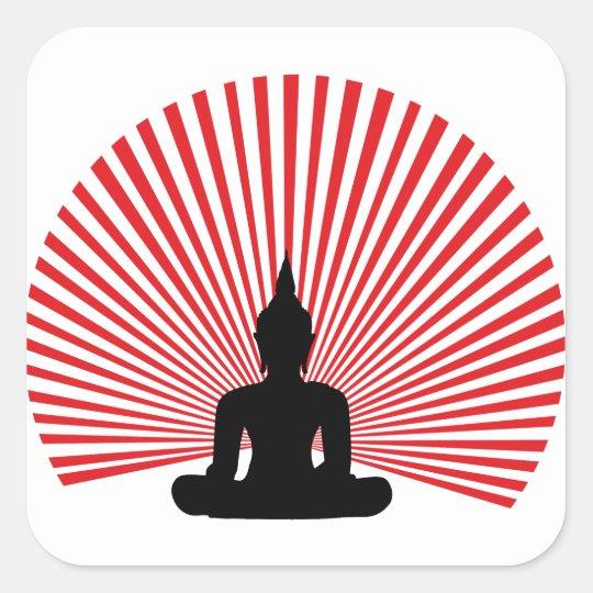 Sticker Carré Bouddha tha