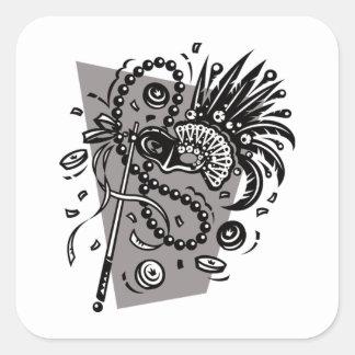 Sticker Carré Boule de mascarade