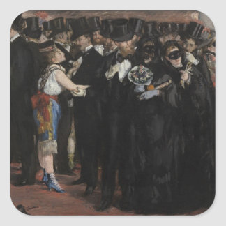 Sticker Carré Boule masquée de Manet | à l'opéra, 1873