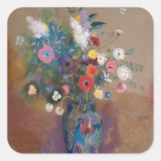 Sticker Carré Bouquet des fleurs