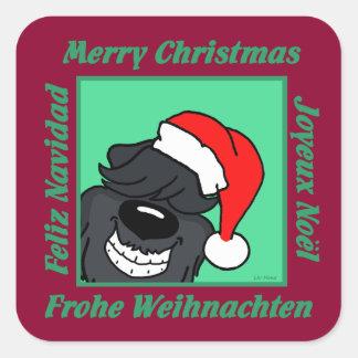 Sticker Carré Bouvier Noël