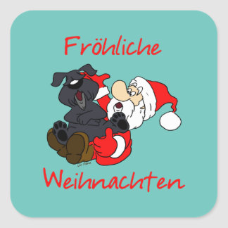 Sticker Carré Bouvier Noël joyeux