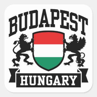 Sticker Carré Budapest Hongrie