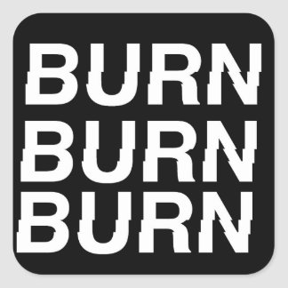 Sticker Carré burnXburn