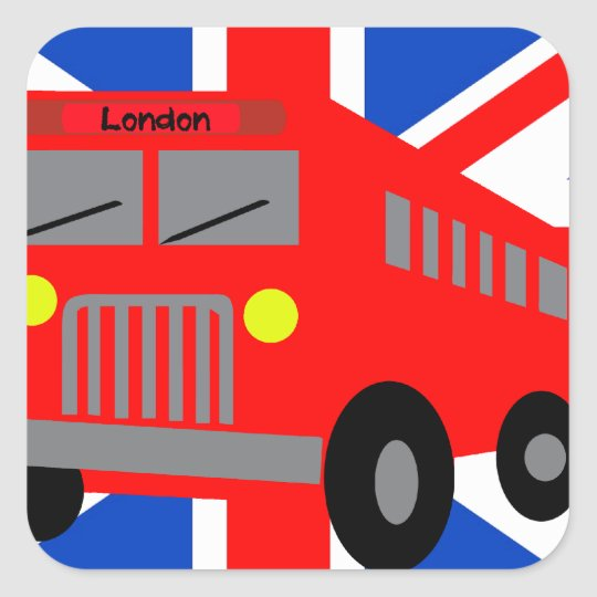 Sticker Carré Bus in London