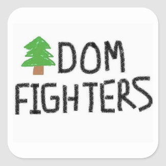 Sticker Carré Butin d'autocollant de combattants de Treedom