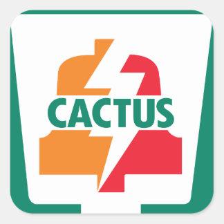 Sticker Carré Cactus onze Bell 1 conçue par Robitussin