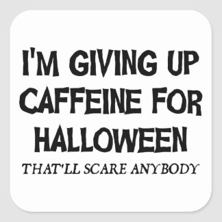 Sticker Carré Caféine pour Halloween
