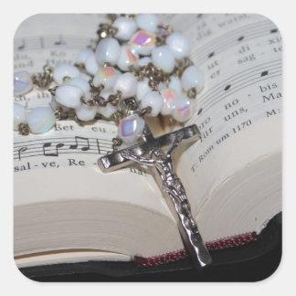 Sticker Carré cahier de musique de chapelet