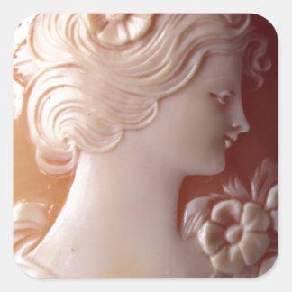 Sticker Carré Camée antique