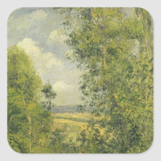 Sticker Carré Camille Pissarro | un repos dans le pré