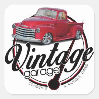 Sticker Carré Camion vintage de garage