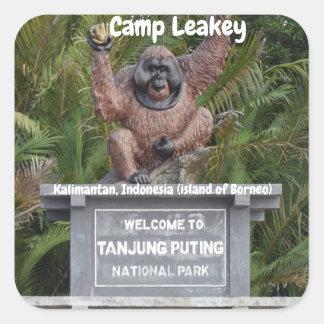 Sticker Carré Camp Leakey Tanjung mettant le parc national