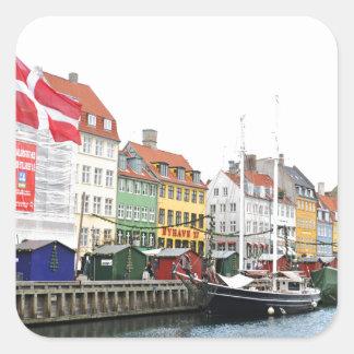 Sticker Carré Canal de Nyhavn à Copenhague, Danmark