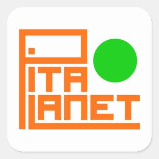 Sticker Carré Canalisation de planète de Pita (planète verte)