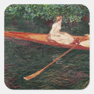 Sticker Carré Canotage de Claude Monet | sur la rivière Epte