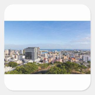 Sticker Carré Capitale d'horizon de Port-Louis des Îles Maurice
