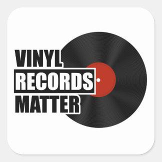 Sticker Carré Carré de matière de disques vinyle