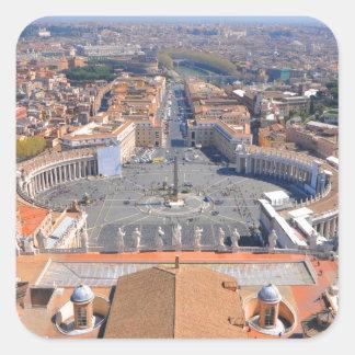 Sticker Carré Carré de St Peter à Vatican, Rome, Italie