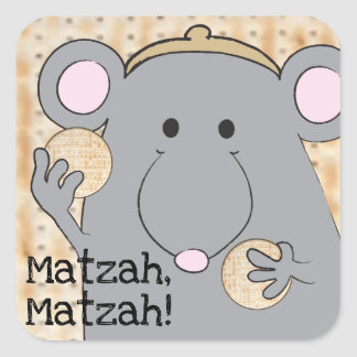 "Sticker Carré Carré ""Matzah d'autocollant de pâque de Matzah """
