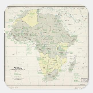 Sticker Carré Carte de l'Afrique, statut administratif (avril