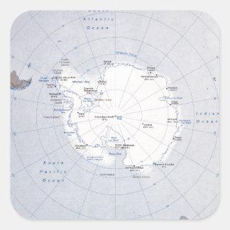 Sticker Carré Carte de Region antarctique (1982)