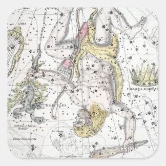 Sticker Carré Carte du plat VIII de constellations