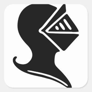 Sticker Carré Casque de chevalier