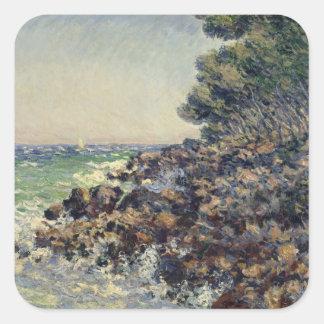 Sticker Carré Casquette Martin, 1884 de Claude Monet |