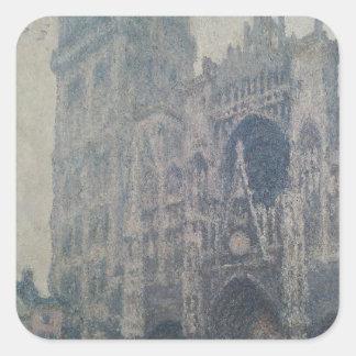 Sticker Carré Cathédrale de Claude Monet | Rouen, à l'ouest