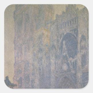 Sticker Carré Cathédrale de Claude Monet | Rouen, harmonie dans