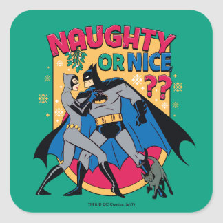 Sticker Carré Catwoman de Batman   sous le gui vilain ou Nice