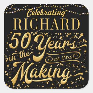 Sticker Carré Célébrant 50 ans dans la fabrication (cinquantième