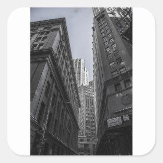 Sticker Carré Centre Metropole de New York City de gratte-ciel