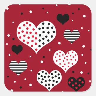 Sticker Carré Cerfs de Saint-Valentin