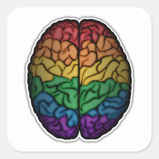 Sticker Carré Cerveau d'arc-en-ciel
