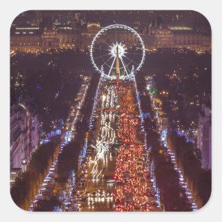 Sticker Carré Champs-Elysées, France