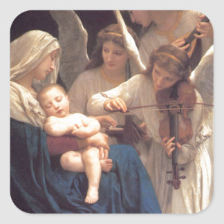 Sticker Carré Chanson des anges - William-Adolphe Bouguereau