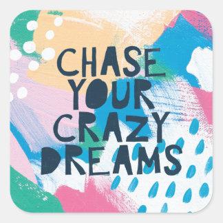 Sticker Carré Chasse lumineuse de l'inspiration I   vos rêves